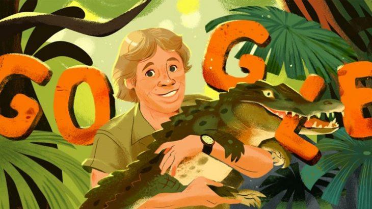 Google rend hommage à Steve Irwin