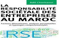 Parution: « La responsabilité sociétale des entreprises au Maroc », de Adil Cherkaoui
