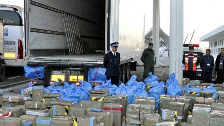 El Guerguerat: Avortement d'une tentative de trafic de 2,086 tonnes de chira