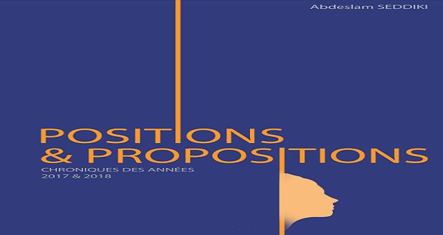 Parution: L'ex ministre, Abdeslam Seddiki, publie «Positions et Propositions»