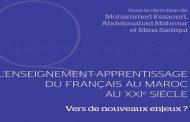 Parutionde «L'enseignement-apprentissage du français au Maroc au XXème siècle»