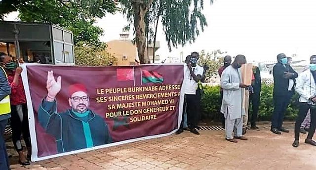 Covid-19 : Suivant les instructions royales, acheminement réussi des aides médicales à Ougadougou, la capitale du Burkina Faso