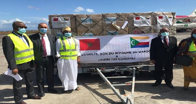 Covid-19: Suivant les instructions royales, acheminement réussi de l'aide médicale marocaine destinée aux Comores