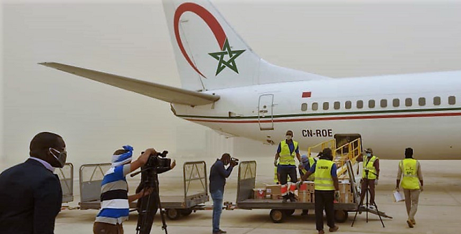Covid-19 : Suivant les instructions royales, acheminement réussi de l'aide médicale marocaine à Luanda, capitale de l'Angola