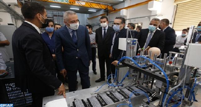 Une machine 100% marocaine pour la fabrication de masques présentée à Casablanca