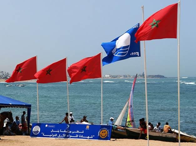 """Le """"Pavillon Bleu"""" décerné à 26 plages marocaines"""