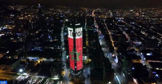 Fête du Trône: Le drapeau marocain a illuminé le ciel de Bogota