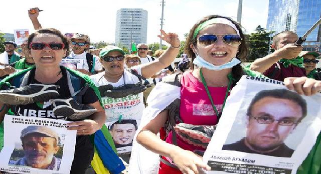Suisse : Des militants du Hirak manifestent devant l'ONU contre les détentions arbitraires en Algérie