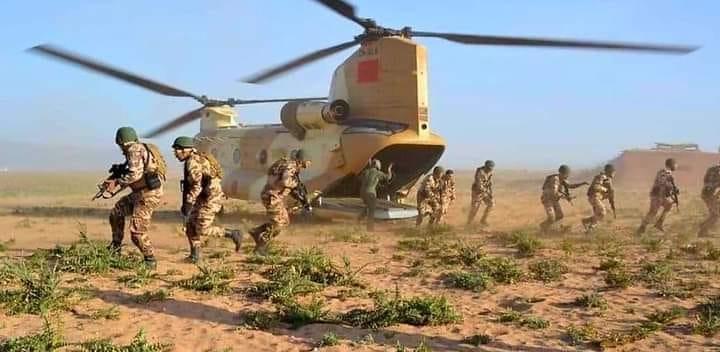Guerguarate: Les Forces Armées Royales sécurisent le flux des biens et des personnes