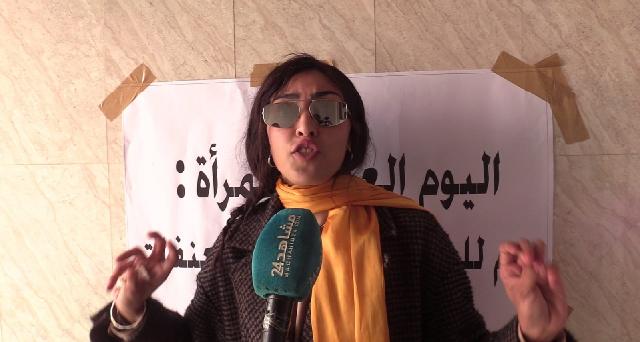 Hafsa Boutahar poursuit son combat pour l'honneur et la dignité et organise une conférence de presse pour dénoncer ceux qui soutiennent son violeur Omar Radi