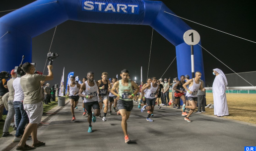 Dubaï: Les coureurs marocains remportent les3 premières places dans la Course à pied de 10km