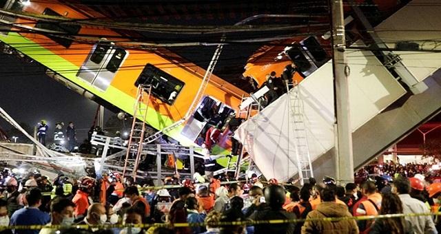 Au moins 23morts et 70 blessésdans l'effondrement d'un pont du métro aérien à Mexico
