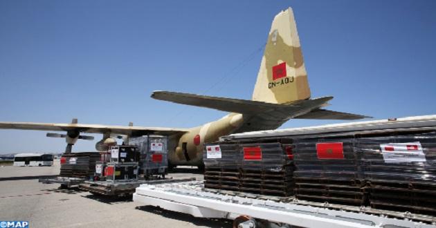 Aide médicale d'urgence ordonnée par SM le Roi: arrivée de quatre nouveaux avions à Tunis