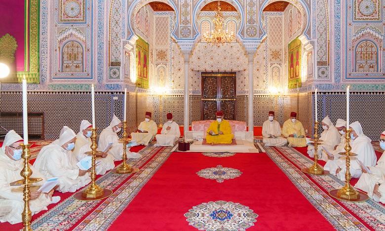 Le Souverain célèbre une veillée religieuse en commémoration de l'Aïd Al-Mawlid